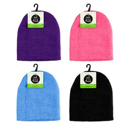 Beanie Kids Basic Plain Colour Asstd