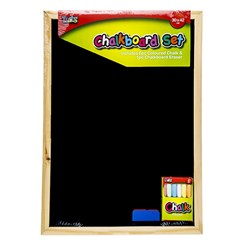 Chalkboard Wooden Frame 300x420mm w Accessories