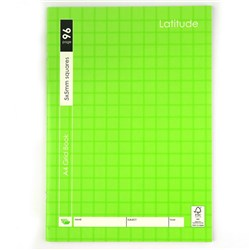 Book Grid A4 5mm Ruled 96pg 210x297mm P7.1 FSC MIX 70%