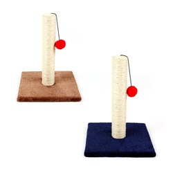 Cat Scratching Post w Ball 2 Asstd Colours