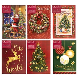 Cards Xmas Pack 18 107x155mm Traditional