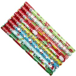 Wrap Paper Xmas 12Mx70cm 60gsm 38mm Core PDQ Asstd