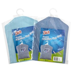 Cloth Peg Bag w PS Hanger 2 Asstd Cols