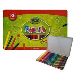 Pencil Colour 36pk in Metal Tin