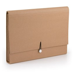 File Expanding Kraft A4 6 Pockets w Elastic Loop Closure