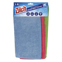 Cloth Cleaning Multipurpose Microfibre 30x30cm Pk3