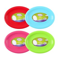 Platter Serving Oval Plastic Large 4 Asstd Colours