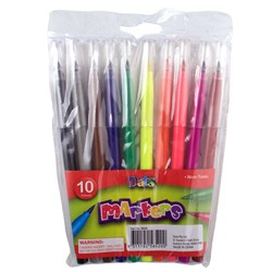 Marker Coloured Brush Tip 10pk
