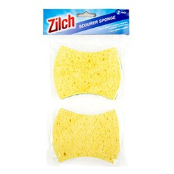 Sponge Cellulose w Scourer Pk2 2 in 1
