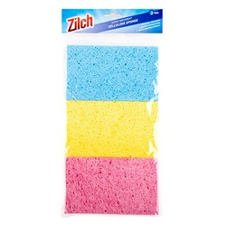 Sponge Cellulose 3 Colours Pk3