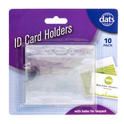 Card Holder ID Clear 10pk 96 x 78mm
