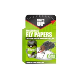 Fly Paper Times Up 8pk