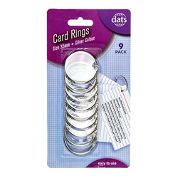 Card Ring Silver 35mm 9pk