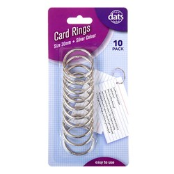 Card Ring Silver 30mm 10pk