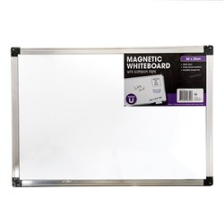 Whiteboard Magnetic Aluminium Frame 500x350mm
