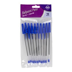 Pen Ballpoint 10pk Blue Ink