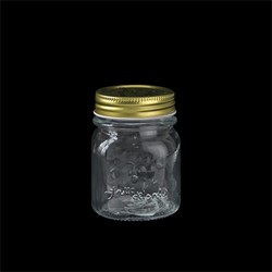 Glass Conserve Jar Gold Lid 150ml 6.2x8.2cm