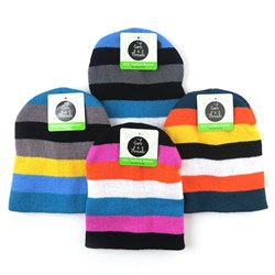 Beanie Kids Fashion Stripes Asstd