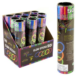 Glowstick Pk50 Colour Asstd Tube with PDQ