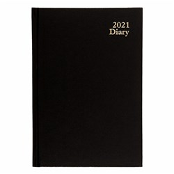 Diary A5 WTO Case Bound Black