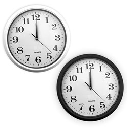 Clock Wall 30x30cm Asstd Black or White
