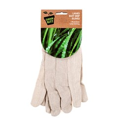 Cotton Garden Gloves White with Black Cuffs