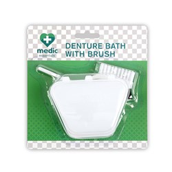 Denture Bath w Brush Set
