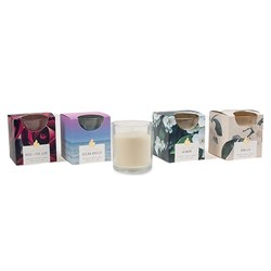 Candle Scented in Glass Jar 25 Hour Pk1 4 Asstd