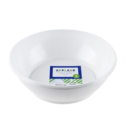 Bowl Plastic White 250mm Pk4