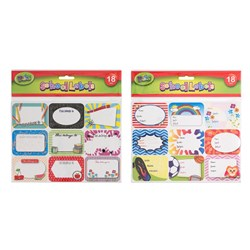 Labels School 18pk 2 Asstd