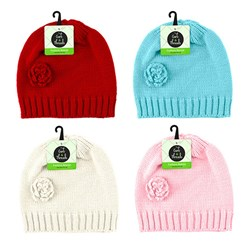 Beanie Girls Ladies Fashion Colour Asstd