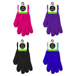 Gloves Ladies Fashion Colour w Fluffy Wrist Asstd