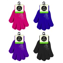 Gloves Ladies Fashion Colour w Embellishments Asstd