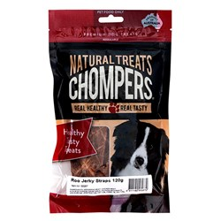 Dog Treat Roo Jerky Straps 120g