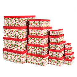 Gift Box Xmas Set 18 Rectangular Traditional