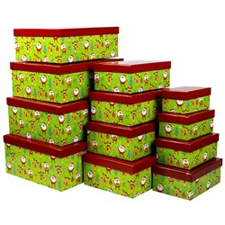 Gift Box Xmas Set 12 Rectangular Cute