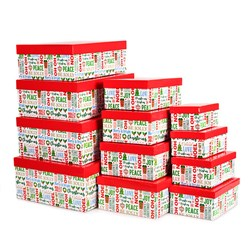 Gift Box Xmas Set 12 Rectangular General