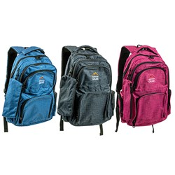 Outdoor Gear Padded Backpack W/Pencil Case 3 Asstd Cols