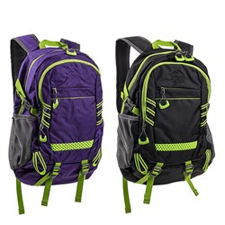 Outdoor Gear Padded Backpack 2 Asstd Cols Black / Purple