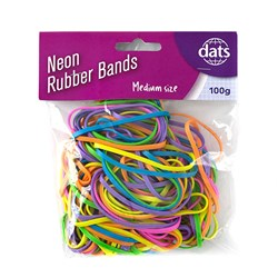 Band Rubber 100g Mixed Cols Medium