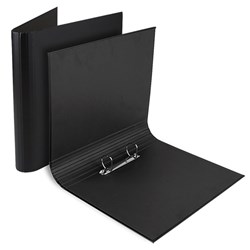 Binder 2 Ring A4 Round Matte Laminated Black Arch