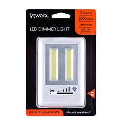Light COB 2pc Switch Dimmer Battery Operated White