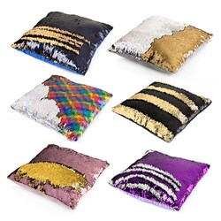 Cushion Sequin Square 40cm Asstd
