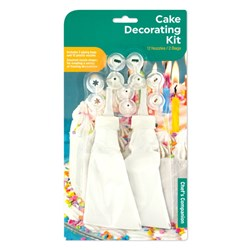 Cake Decorating Kit Pk2 w PP Nozzles Set of 12