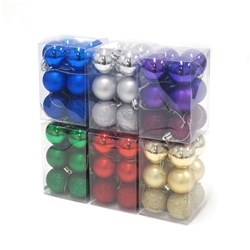 Baubles Xmas Traditional Shiny Matte Gltr 40mm 12pk Asstd SRT