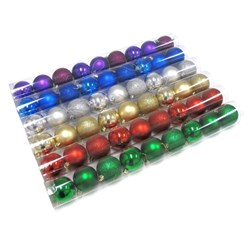 Baubles Xmas Traditional Shiny Matte Gltr 60mm 9pk Asstd PDQ