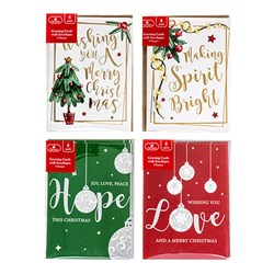 Cards Xmas Box 8 110x150mm w Foil Emboss