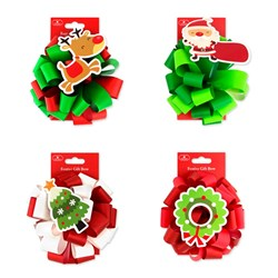 Bow Xmas Star Two-Tone 15cm w Christmas TipOn