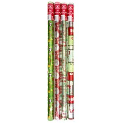 Wrap Foil Xmas 3Mx70cm 25Mic. 38mm Core PDQ Asstd