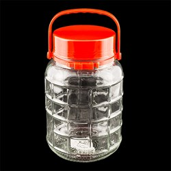 Glass Jar Grid Pattern 3L 24.5cm x 15.5cm Dia